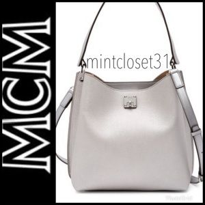 🆕 MCM Italy Leather Hobo Crossbody Bag